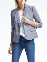 Banana Republic Luxe Brushed Twill Two Button Schoolboy Blazer