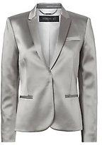 Barbara Bui High-Shine Silver Blazer