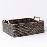 west elm Modern Weave Underbed Shallow Storage - Blackwash