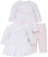 Little Me Infant Girls' Garden Three Piece Dress & Leggings Set - Sizes 3-12 Months