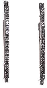 Alexis Bittar Crystal Encrusted Spiked Hoop Earrings