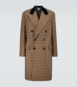 Dries Van Noten Double-breasted checked wool coat