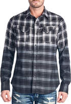 Cult of Individuality Men's Clint Plaid Cotton Sportshirt