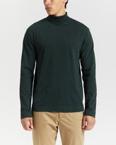 Thumbnail for your product : Sunspel Men's Green Jumpers - Brushed Cotton LS Turtle Neck - Size L at The Iconic