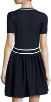 RED Valentino Anchor Fit-And-Flare Sweaterdress