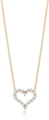 Tiffany & Co. HeartsTM pendant in 18k rose gold with diamonds, small