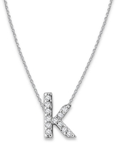 KC Designs White Gold Diamond Letter K Necklace