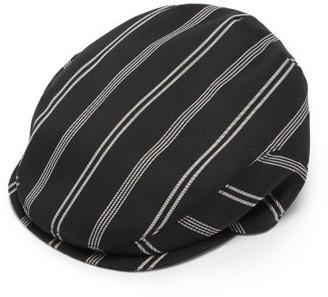 Dolce & Gabbana Striped Wool-blend Twill Flat Cap - Black