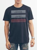 Junk Food Clothing Judge Jury Executioner Tee-bkwa-l