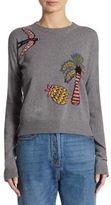 Valentino Bird Intarsia-Knit Wool & Cashmere Sweater