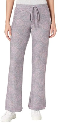 Chaser Cozy Knit Rib Paneled Lounge Pants (Paisley Print) Women's Casual Pants