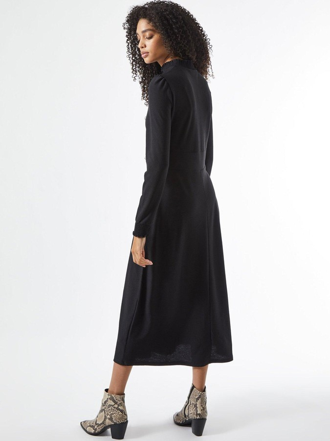 Thumbnail for your product : Dorothy Perkins Tiered Shirred Neck Midi Dress - Black
