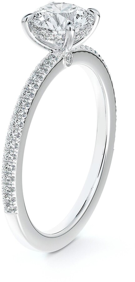 Forevermark x Micaela Simply Solitaire Round Diamond Engagement Ring with Diamond Band