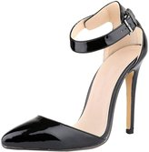 OCHENTA Ladies Womens High Heel Pointed Toe Anckle Strap Pumps