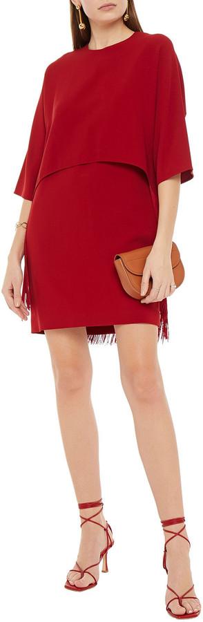 Thumbnail for your product : Stella McCartney Fringed Layered Crepe Mini Dress