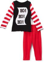 Beary Basics Red 'Ho Ho Ho' Long-Sleeve Tee & Leggings - Toddler & Girls