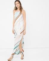 White House Black Market Asymmetric Stripe Maxi Dress