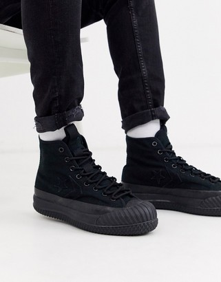 Converse Bosey MC Water Repellent trainer boots in black