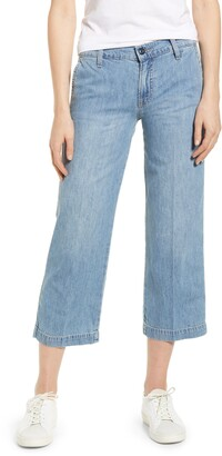 Lucky Brand Crop Wide Leg Nonstretch Jeans