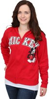 Freeze Juniors womens Juniors Mickey Mouse Reversible Zip Up Hoodie