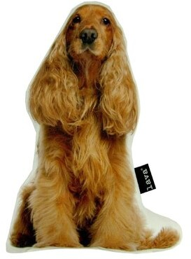 Lava Spaniel Puppy Shaped Indoor/Outdoor Throw Pillow