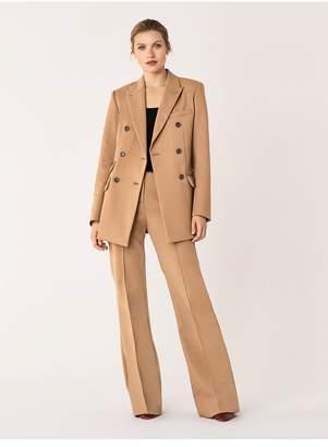 Diane von Furstenberg Atlas Stretch Cotton Double-Breasted Blazer