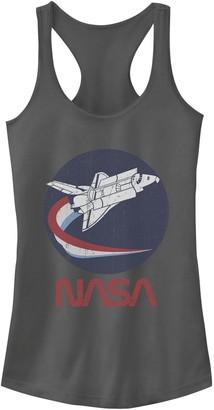 Licensed Character Juniors' NASA Rocket Red White & Blue Swoosh Logo Tank Top
