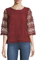 Tularosa Cannes Lace Pompom Top
