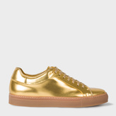 Paul Smith Men's Metallic Gold Leather 'Basso' Trainers