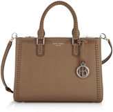 Henri Bendel West 57th Whip Stitch Turnlock Satchel