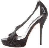 Gucci Embellished Platform Sandals