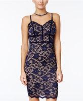 B. Darlin Juniors' Lace Scalloped-Hem Bodycon Dress