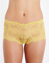 Wacoal Chrystalle stretch-lace boyshort briefs