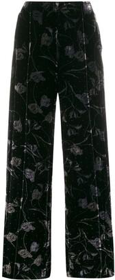 Diane von Furstenberg Mabel wide leg trousers