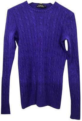 Polo Ralph Lauren Purple Cashmere Knitwear for Women