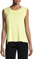 Misook Scoop-Neck Knit Tank, Daiquiri Green, Petite