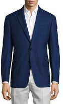 Armani Collezioni G-Line Birdseye Wool Two-Button Sport Coat, Blue