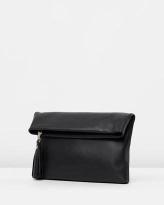 Stitch & Hide - Women's Black Leather bags - Lily Fold Clutch - Size One Size at The Iconic