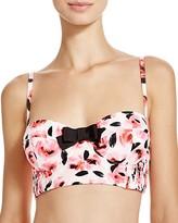 Kate Spade Smocked Bralette Bikini Top