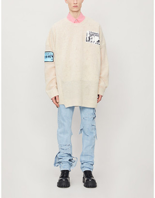 Raf Simons Oversized patch wool jumper