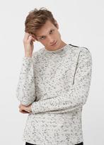 MANGO MAN Zip Flecked Sweater