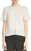 Maje Lione Embroidered Top