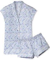 Three J NYC Olivia Floral-print Cotton-poplin Pajama Set - Blue