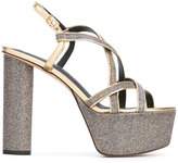 Jean-Michel Cazabat metallic platform sandals - women - Leather - 36