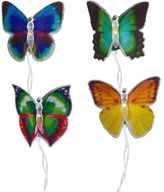 Kurt Adler 10-Light Fiber Optic Butterfly String Lights