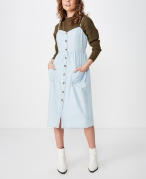Cotton On Woven Beth Button Front Midi Dress