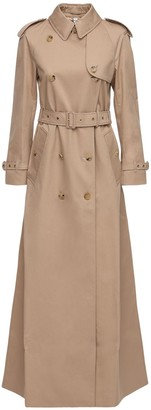 Burberry Cotton Canvas Long Trench Coat
