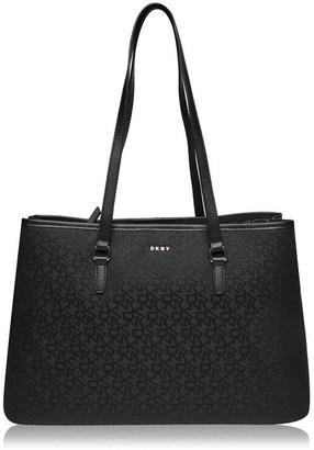 DKNY Jacquard Logo Large Tote Bag