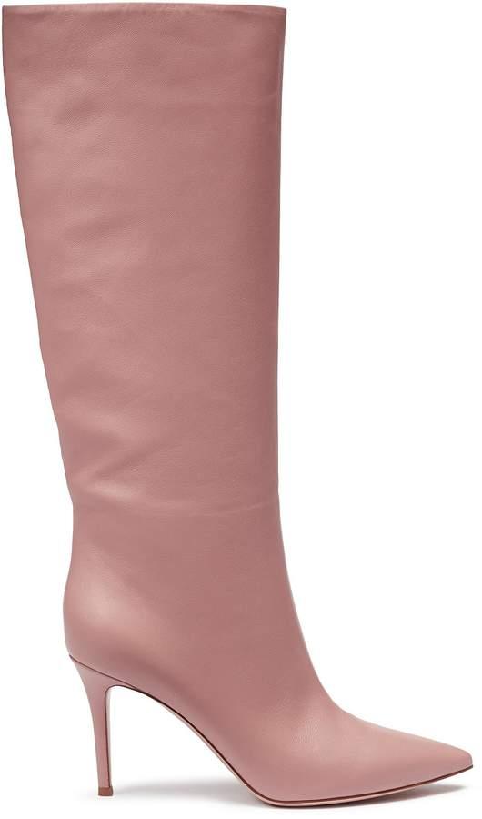 Gianvito Rossi 'Suzan' leather mid calf boots