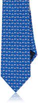 Salvatore Ferragamo Men's Turtle-Print Silk Necktie
